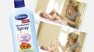 Spray sub scutec  de la Bubchen pentru copil să se usuce!