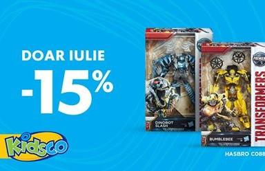 Kidsco -15% doar in Iulie