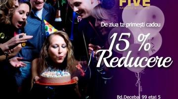 Five Karaoke cadou – 15%