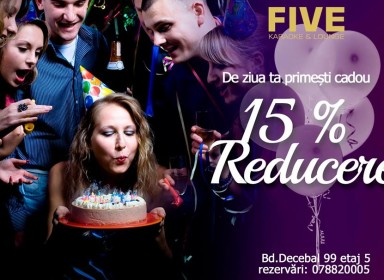 Five Karaoke подарок — 15%
