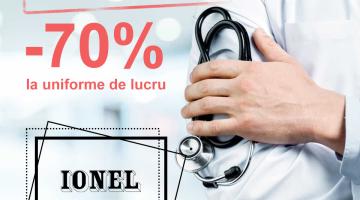 Fabrica IONEL anunță reduceri la haine de specialitate până la – 70%