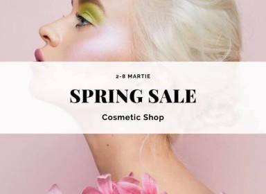 Întâlnim primăvara cu reduceri la magazinul Cosmetic Shop!