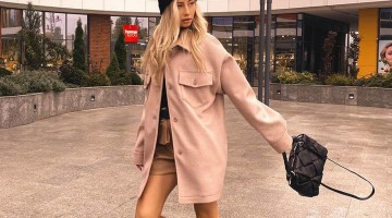 Кашемировое пальто-рубашка