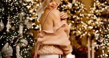Пуловер с оборками и трикотажная юбка карандаш на мягком поясе